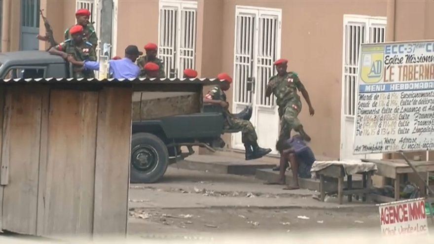 Manifestações reprimidas na RDC