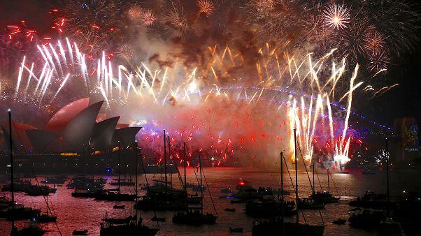 Новогодний салют в Сиднее