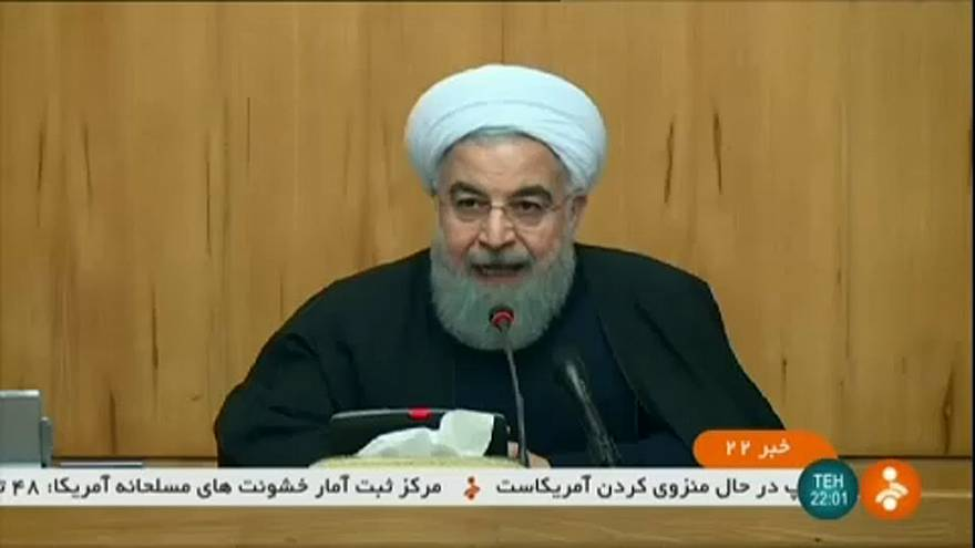 Iranian President Hassan Rouhani addresses the nation