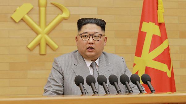 Kim Jong-un durante o discurso anual à nação