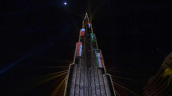 برج خليفة بدبي خلال الاحتفالات برأس السنة 2018
