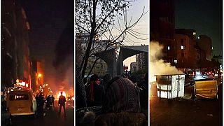 صورة للاحتجاجات في طهران