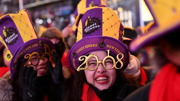 New Year celebrations in New York City's Times Square