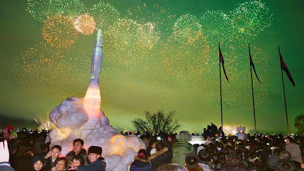 احتفالات رأس السنة في العاصمة بيونغ يانغ في كوريا الشمالية