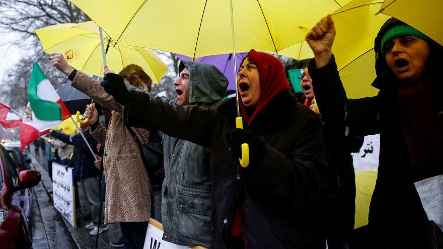 Manif contre pouvoir iranien à Londres