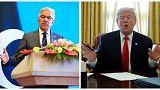 الرئيس الأمريكي دونالد ترامب (يمين) و وزير الخارجية الباكستاني خواجة آصف