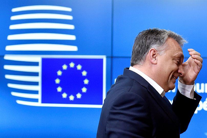 Orban arriva ad un meeting del gruppo Visegrad a Bruxelles