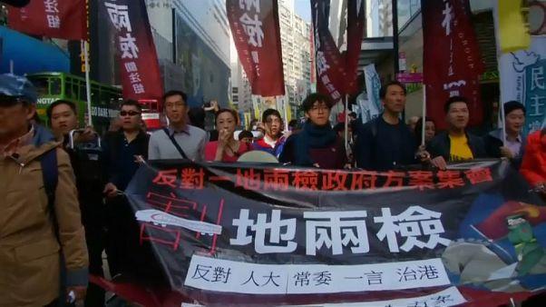 Protesta contra la influencia de Pekín en Hong Kong