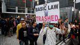 """Manifestation contre l'""""ingérence"""" de Pékin à Hong Kong"""