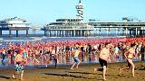 Netherlands new year swim