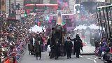 El centro de Londres celebra el nuevo año