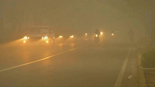 Travel chaos as fog cloaks New Delhi