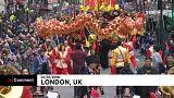 Színpompás újévi parádé Londonban