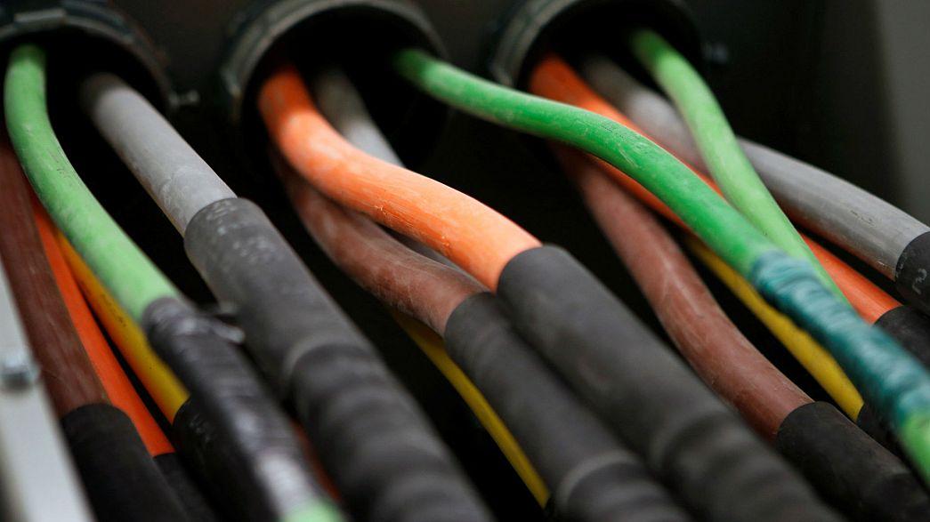 Fibre optic cables carrying internet providers