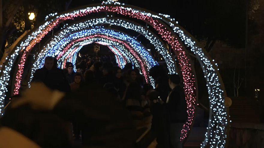 Праздничные огни Баку