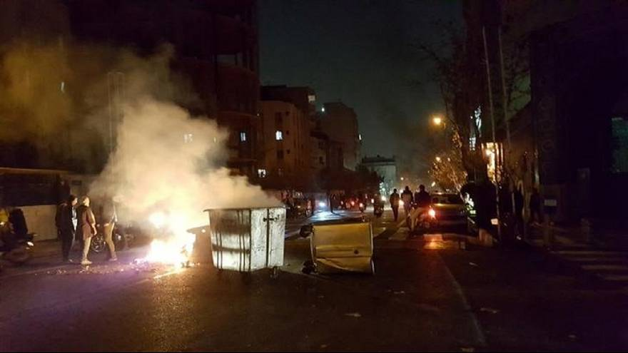 جانب من الاحتجاجات في العاصمة طهران
