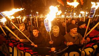 Ukraine: march for Bandera's birthday