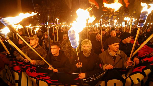 Ukraine: march for Bandera's birthday