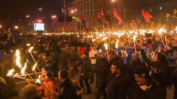 Факельное шествие в Киеве