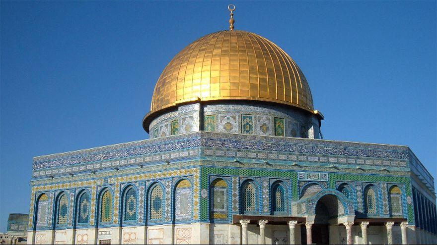 صورة لمسجد قبة الصخرة في القدس