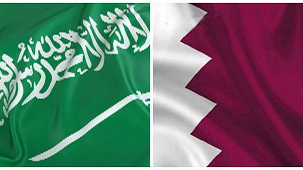 علما قطر (يمين) والسعودية