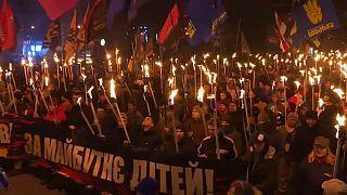 Marcha nacionalista en Kiev