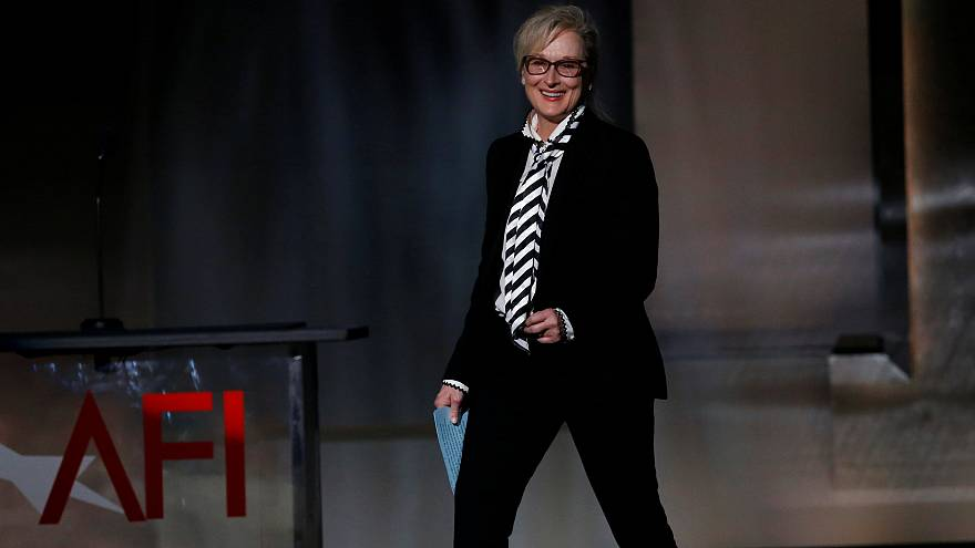 Meryl Streep at the 2017 American Film Institute Life Achievement Award
