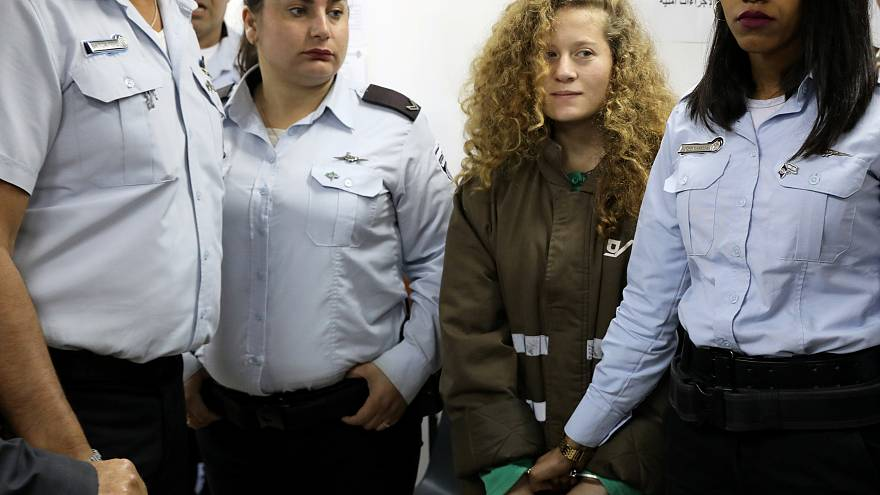 Ahed Tamimi im Gefängnis Ofer bei Ramallah