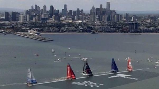 آغاز مرحله چهارم مسابقه قایقرانی «ولوو اوشن ریس»