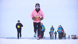 Maraton az Amur jegén