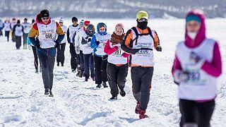 "Cina: Maratona ""ghiacciata"""