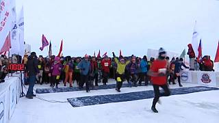 الصين:  سباق الماراثون الجليدى