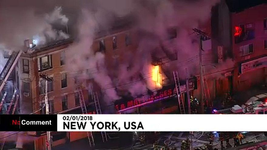 Legalább 12 sérült a New York-i tűzben