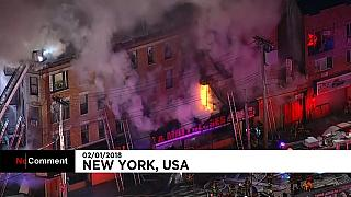 New York: in fiamme un altro edificio nel Bronx
