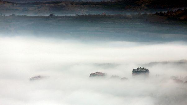 Skopje shrouded in fog