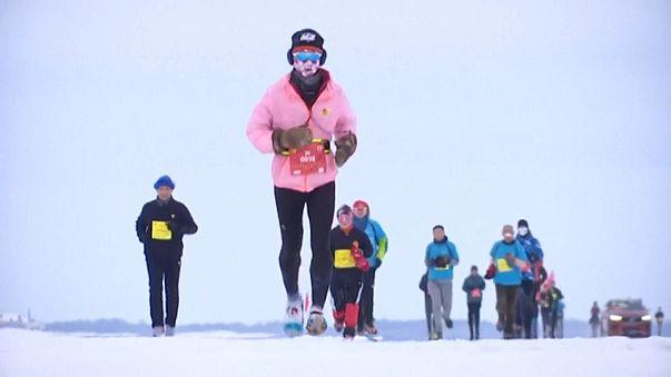 """""""Ледовый марафон"""" на Амуре"""