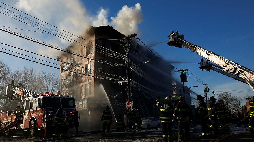 Nearly two dozen hurt in Bronx fire