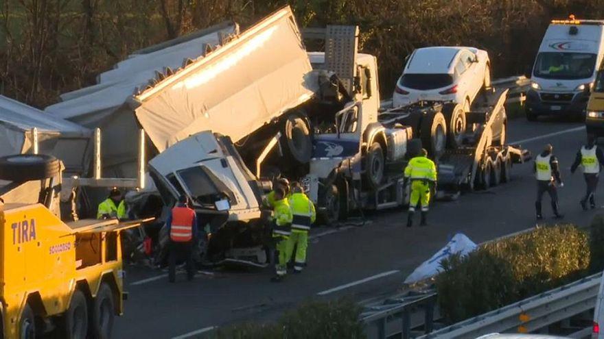 Seis mortos em grave acidente de viação na Lombardia
