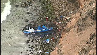 Accidente mortal de autobús en Perú