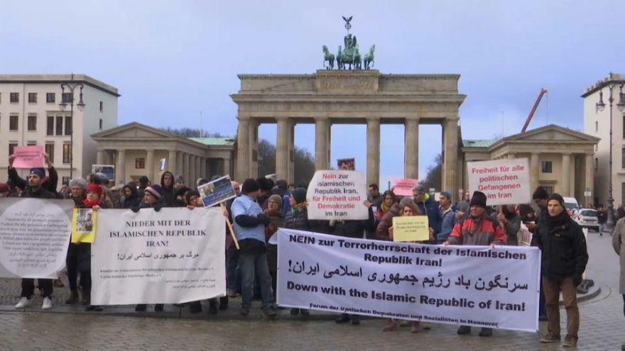 Avrupa başkentlerinde İran protestoları