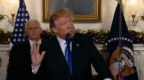 Trump el día que reconoció a Jerusalén como capital de Israel