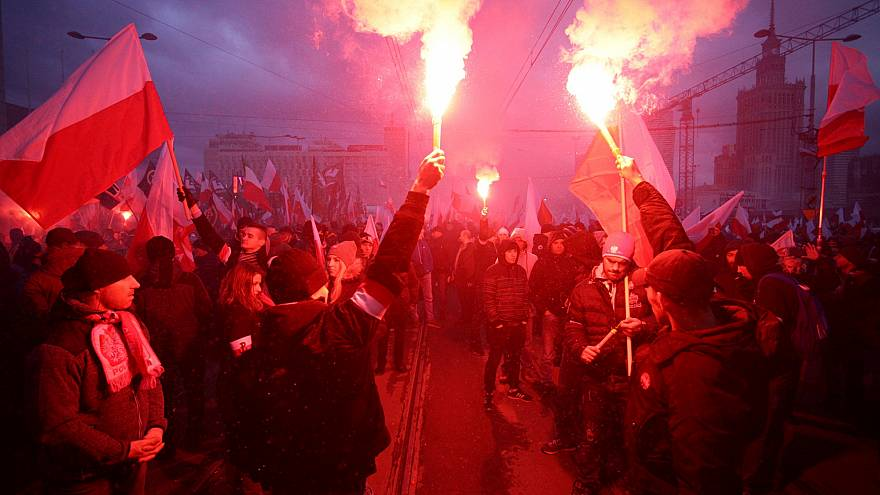 Nationalist march in Poland