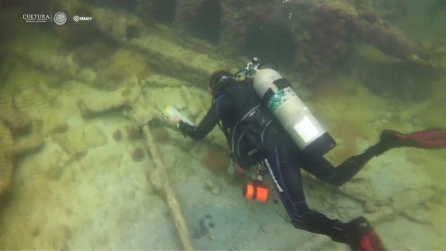 Triple hallazgo arqueológico bajo el mar en México