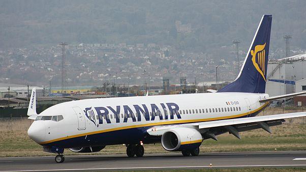 یک هواپیمای شرکت «رایان ایر»