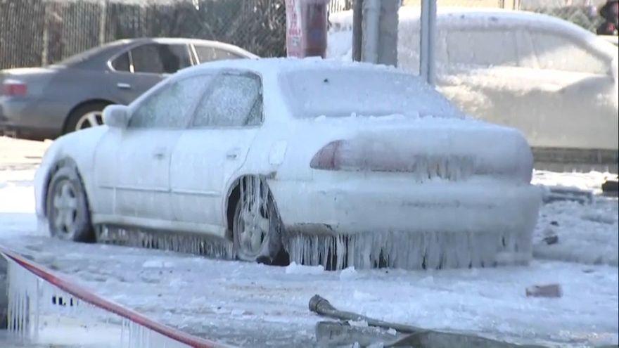 New York: eisige Kälte nach tödlichem Brand