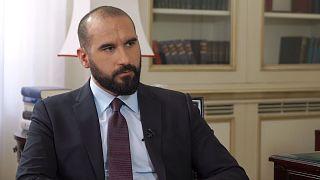 O Δ. Tζανακόπουλος αποκλειστικά στο Euronews για τα εθνικά θέματα