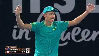 18-year old stuns Raonic at Brisbane