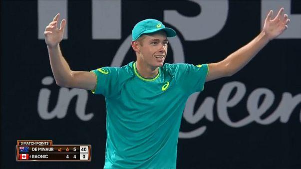 18-year old stuns Raonic at Brisbane