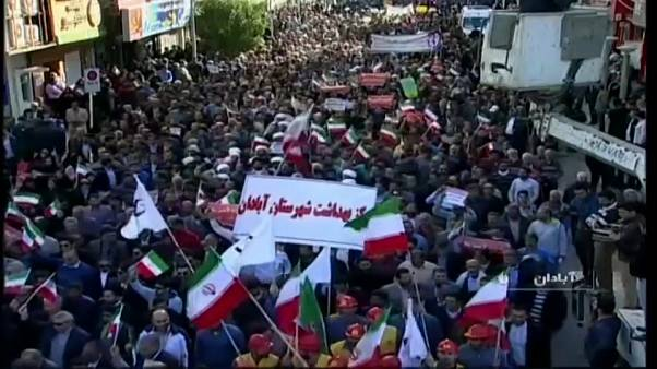 Protestas de apoyo al Gobierno iraní