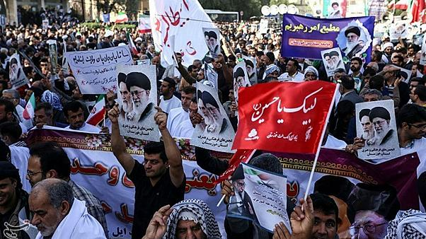People take part in pro-government rallies, Iran